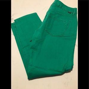 JAG Green Slim Ankle Jeans